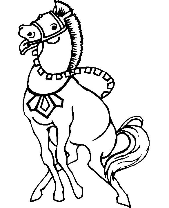 Coloriage et dessins gratuits Le cheval s'amuse à imprimer