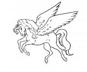 Coloriage Le cheval volant dessin animé