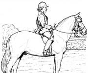 Coloriage Maître et cheval