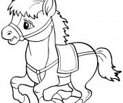 Coloriage Très petit cheval