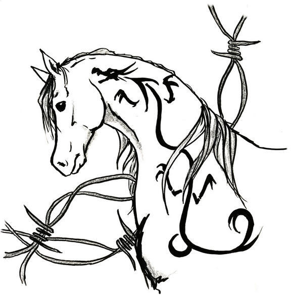 Coloriage un joli cheval dessin gratuit imprimer - Dessin facile de cheval ...