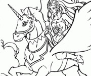 Coloriage Unicorne