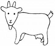 Coloriage et dessins gratuit Chèvre à télécharger à imprimer