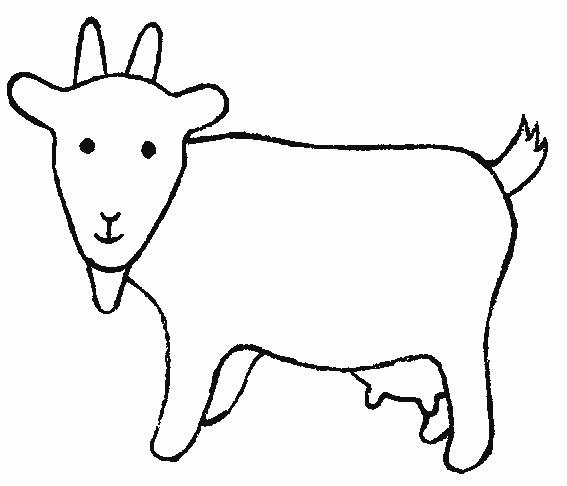 Coloriage et dessins gratuits Chèvre à télécharger à imprimer