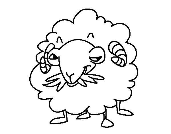 Coloriage et dessins gratuits Chèvre avec le visage bizzare à imprimer