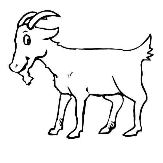 Coloriage et dessins gratuits Chèvre contente à imprimer