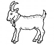 Coloriage et dessins gratuit Chèvre de Monsieur Seguin à imprimer