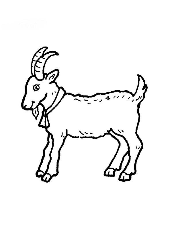 Coloriage et dessins gratuits Chèvre de Monsieur Seguin à imprimer