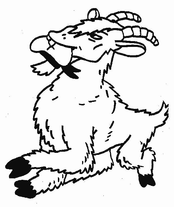Coloriage et dessins gratuits Chèvre en colère à imprimer