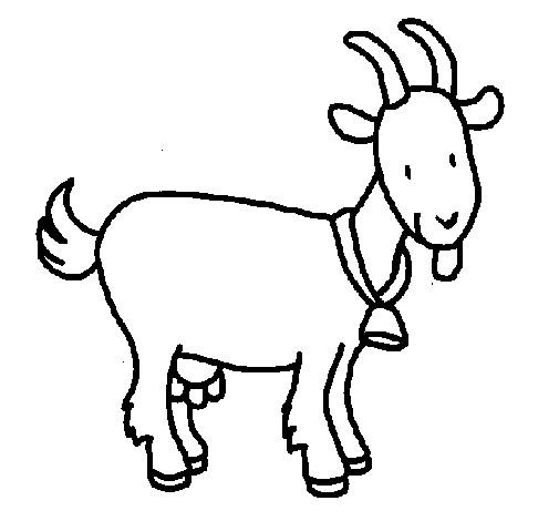 Coloriage et dessins gratuits Chèvre en souriant à imprimer
