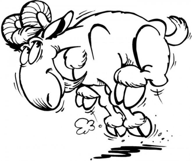 Coloriage et dessins gratuits Chèvre énergétique à imprimer