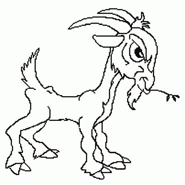 Coloriage et dessins gratuits Chèvre et le regard sérieux à imprimer