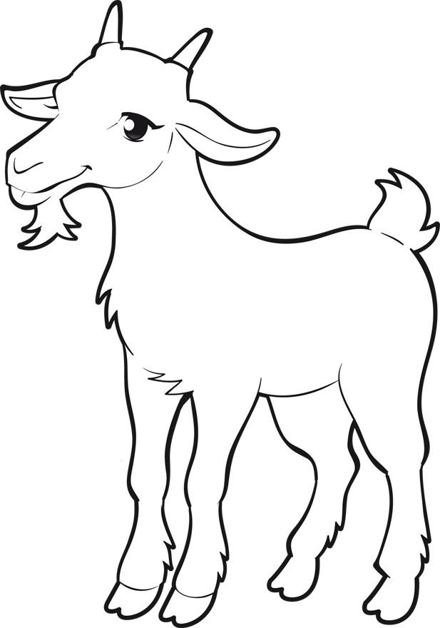 Coloriage et dessins gratuits Chèvre facile à imprimer