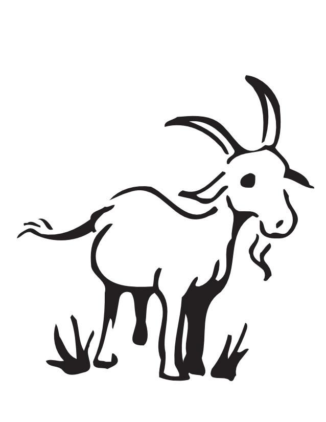 Coloriage et dessins gratuits Chèvre facilement dessiné à imprimer