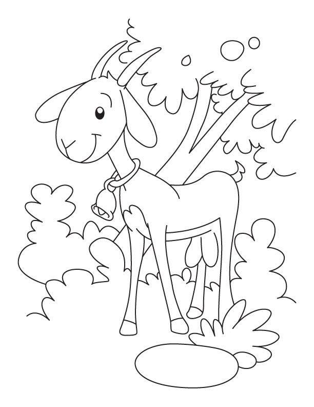 Coloriage et dessins gratuits Chèvre formidable à imprimer