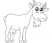 Coloriage et dessins gratuit Chèvre heureuse à imprimer