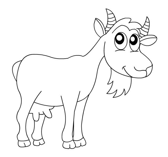 Coloriage et dessins gratuits Chèvre heureuse à imprimer