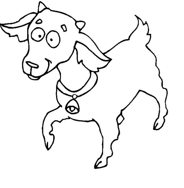 Coloriage et dessins gratuits Chèvre joyeux à imprimer