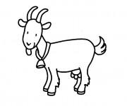 Coloriage et dessins gratuit Chèvre porte sa clochette à imprimer