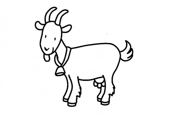 Coloriage et dessins gratuits Chèvre porte sa clochette à imprimer
