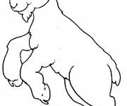 Coloriage Chèvre sympathique qui saute