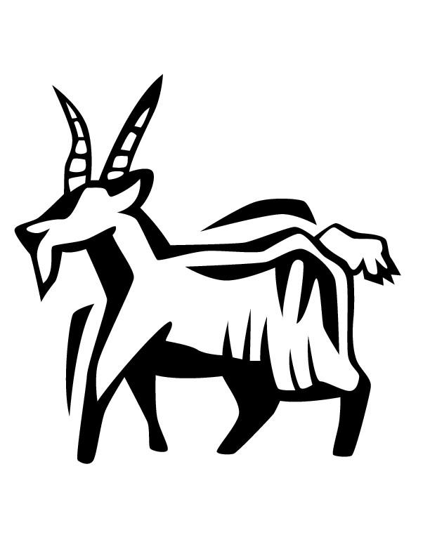 Coloriage et dessins gratuits Chèvre Vecteur à imprimer