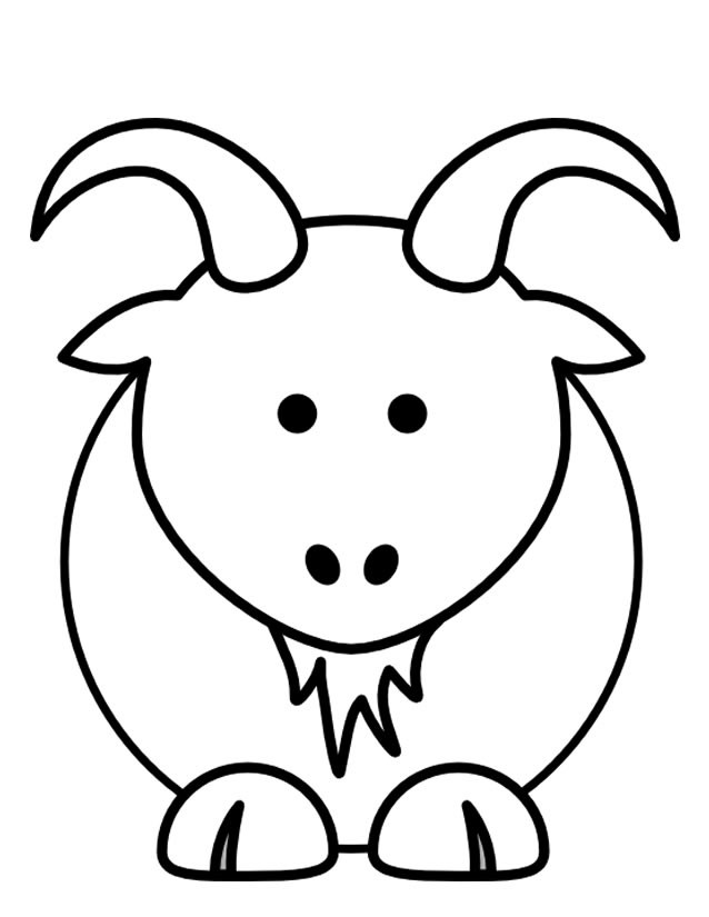 Coloriage et dessins gratuits Chèvre vue de face à imprimer