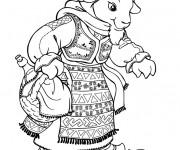 Coloriage La maman chèvre