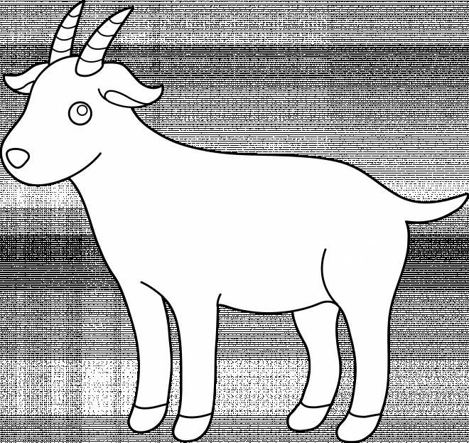 Coloriage et dessins gratuits petite chèvre à télécharger à imprimer