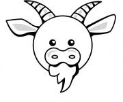 Coloriage Tête de Chèvre