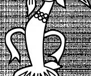 Coloriage Un beau dessin d'une Chèvre