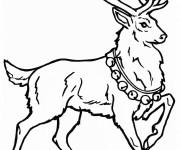 Coloriage et dessins gratuit Chevreuil de Noël à imprimer