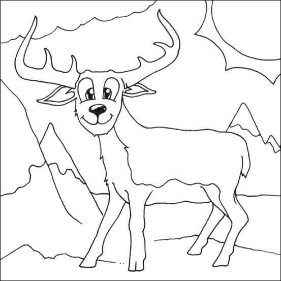 Coloriage et dessins gratuits Chevreuil humoristique à imprimer
