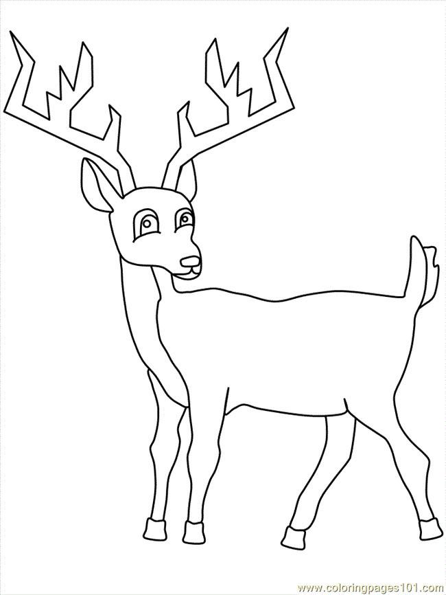 Coloriage et dessins gratuits Chevreuil ligne à imprimer