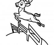 Coloriage Chevreuil sautant vecteur
