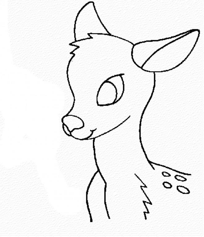 Coloriage et dessins gratuits L'image d'un petit Chevreuil à imprimer