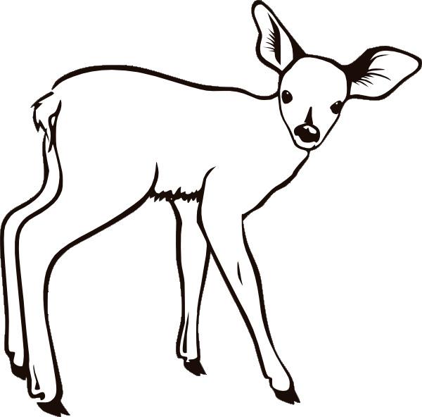 Coloriage et dessins gratuits Un petit Chevreuil facile à imprimer