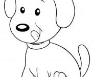 Coloriage dessin  Chien 12