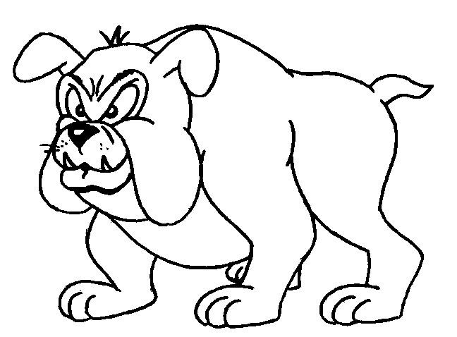 Coloriage et dessins gratuits Chien Bulldog à imprimer