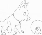 Coloriage Chien et Hamster