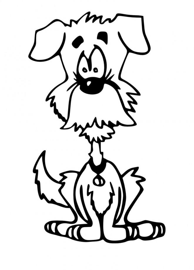 Dessin Humoristique Chien coloriage chien humoristique dessin gratuit à imprimer
