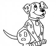 Coloriage et dessins gratuit Chien souriant à imprimer