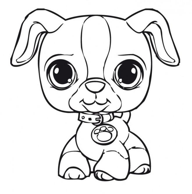 Coloriage chien trop mignon dessin gratuit imprimer - Chiot a colorier ...
