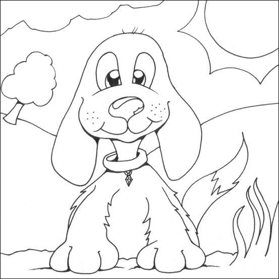 Coloriage et dessins gratuits petit chien drôle à imprimer