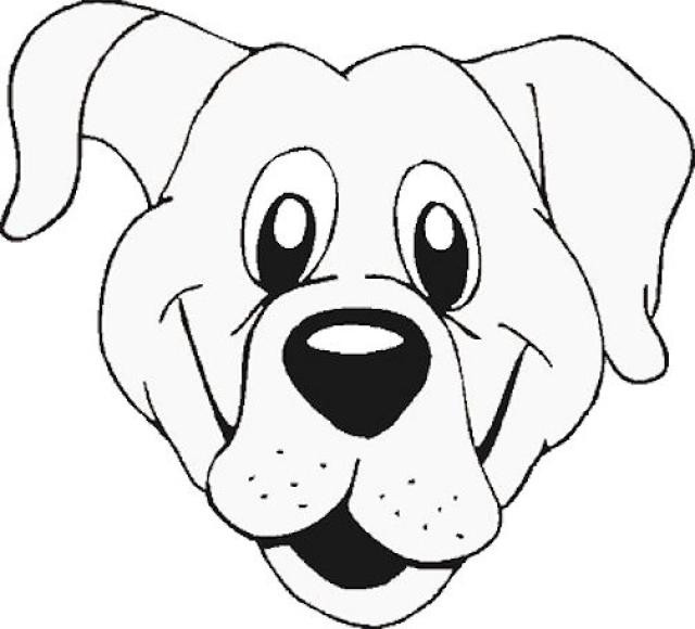 Coloriage t te de chien tout en riant dessin gratuit - Dessin tete de chien ...