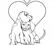 Coloriage dessin  Chien 2