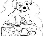 Coloriage dessin  Chien 74