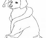 Coloriage dessin  Chiot 7