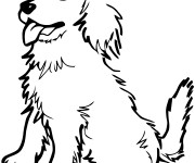 Coloriage Chiot assis