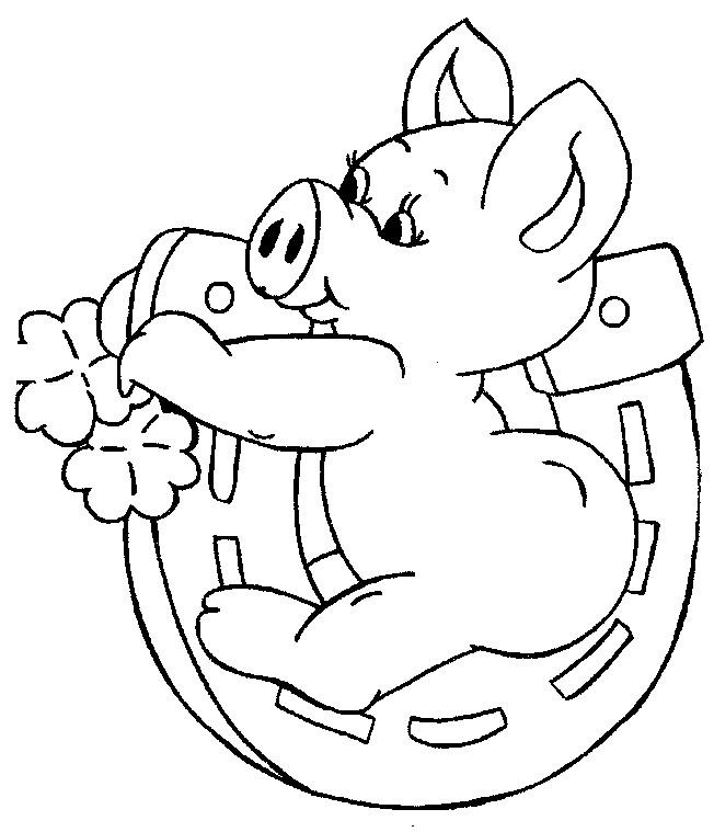 Coloriage et dessins gratuits Bébé Cochon qui joue à imprimer